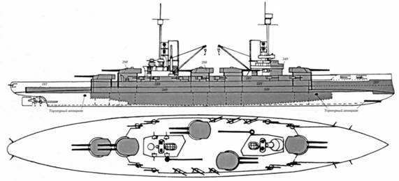 """Линейный корабль  """"Кайзер """".  В 1909 г. против наших восьми больших кораблей они начали строительство трех линкоров и..."""