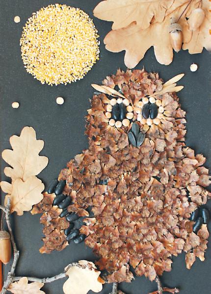 Поделка из природного материала своими руками на тему осень