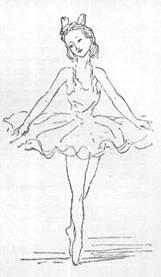 Раскраска танцующая девочка - 7