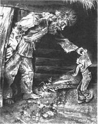 Я тороплюсь, мама ждёт со спичками, а я тут трясусь от страха перед звериной и землю рою, - говорил Саушкин.
