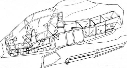 Конструктивно-силовая схема фюзеляжа вертолета RAH-66.
