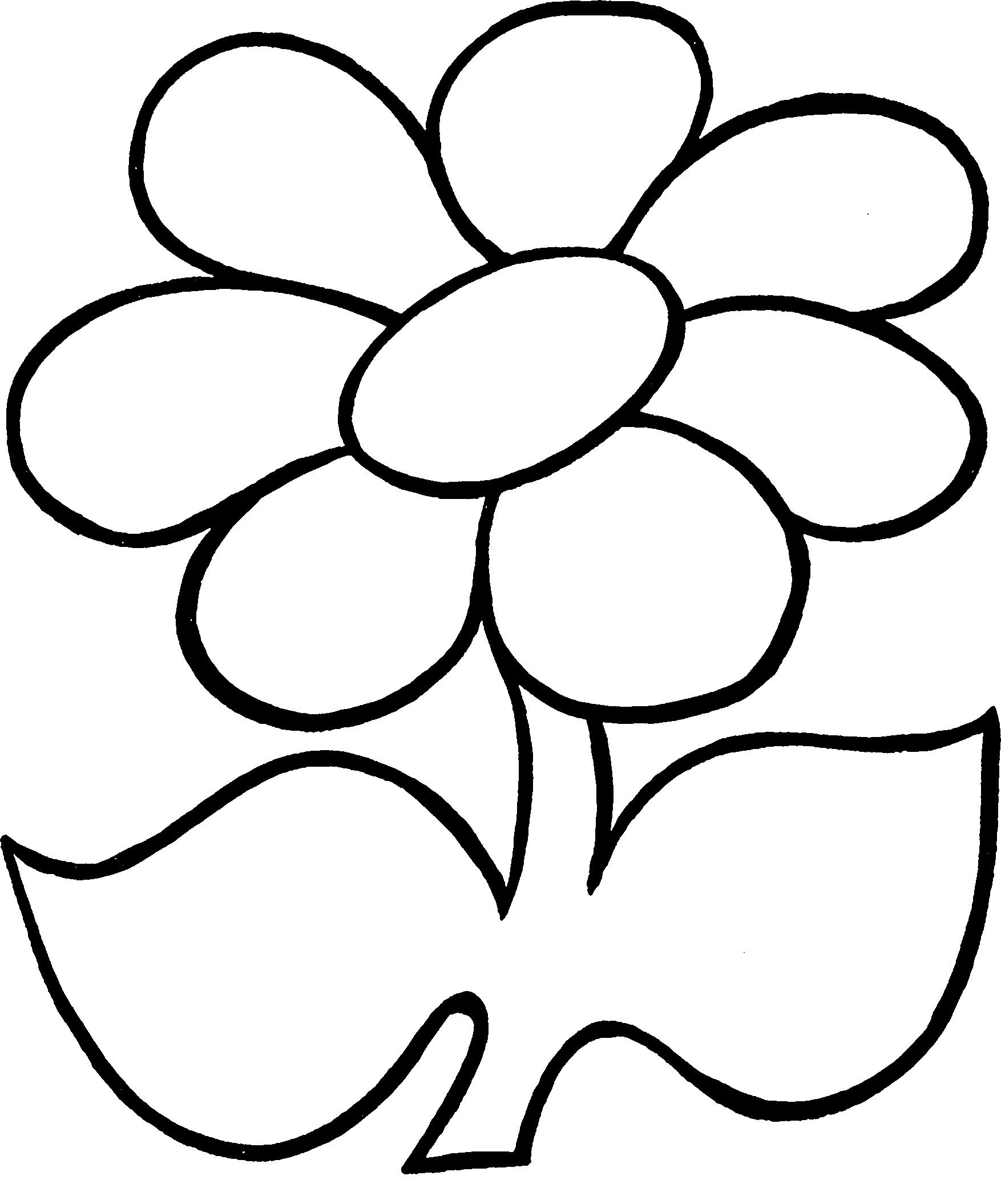 Картинки для детей цветок раскраска, поздравление брату