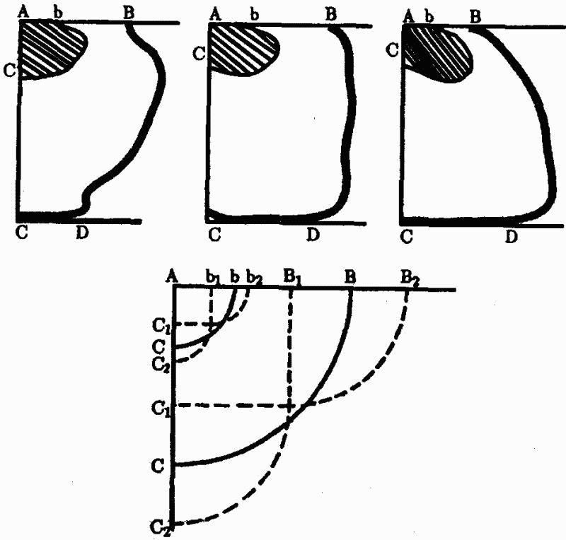 Постройки различаются, в частности, относительными размерами крыши (АВ) и дна (CD) гнезда (вид.
