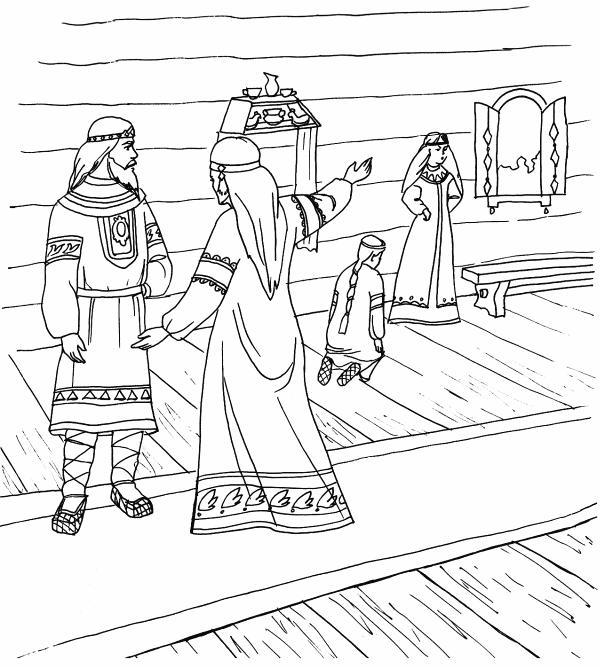 Раскраски солдат и царица
